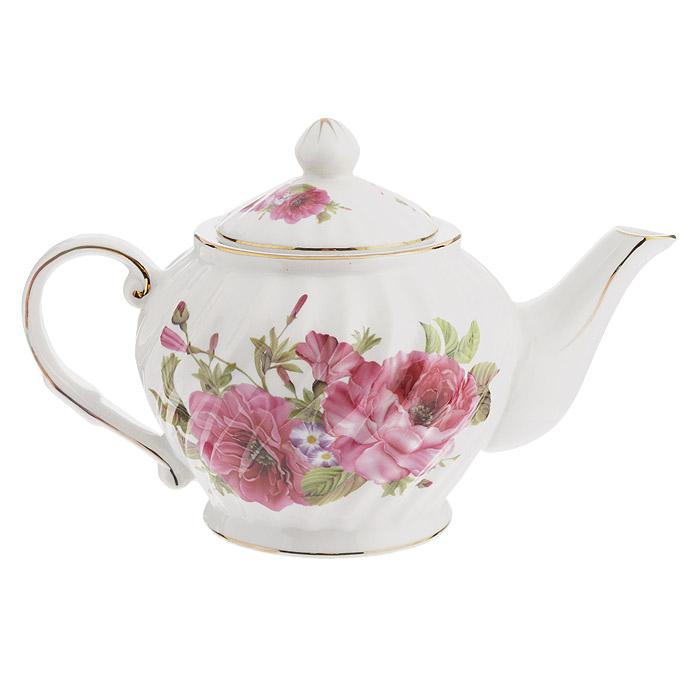 Чайник заварочный Briswild Кларанс, 800 мл. 589-152VT-1520(SR)Чайник заварочный Briswild Кларанс изготовлен из высококачественного фарфора. Чайник декорирован цветочным узором и золотой каймой. Такой дизайн, несомненно, придется по вкусу и любителям классики, и тем кто ценит красоту и изящество. Чайник заварочный Briswild Кларанс украсит ваш кухонный стол, а также станет замечательным подарком к любому празднику. Не использовать в микроволновой печи. Не применять абразивные чистящие вещества.
