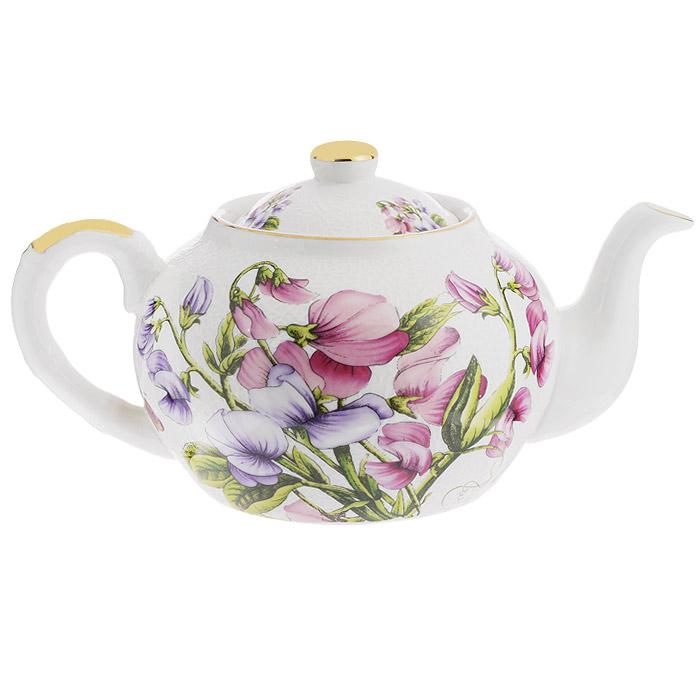 Чайник заварочный Briswild Душистый горошек, 1 л. 545-725115510Чайник заварочный Briswild Душистый горошек изготовлен из высококачественного фарфора белого цвета, украшенного рельефом и ярким изображением цветов. Такой дизайн, несомненно, придется по вкусу любителям классики и тем кто ценит красоту и изящество. Чайник заварочный Briswild Душистый горошек украсит ваш кухонный стол, а также станет замечательным подарком к любому празднику. Не использовать в микроволновой печи. Не применять абразивные чистящие вещества.Диаметр по верхнему краю: 8,5 см. Диаметр основания чайника: 9,2 см.Высота чайника (без учета крышки): 10 см.