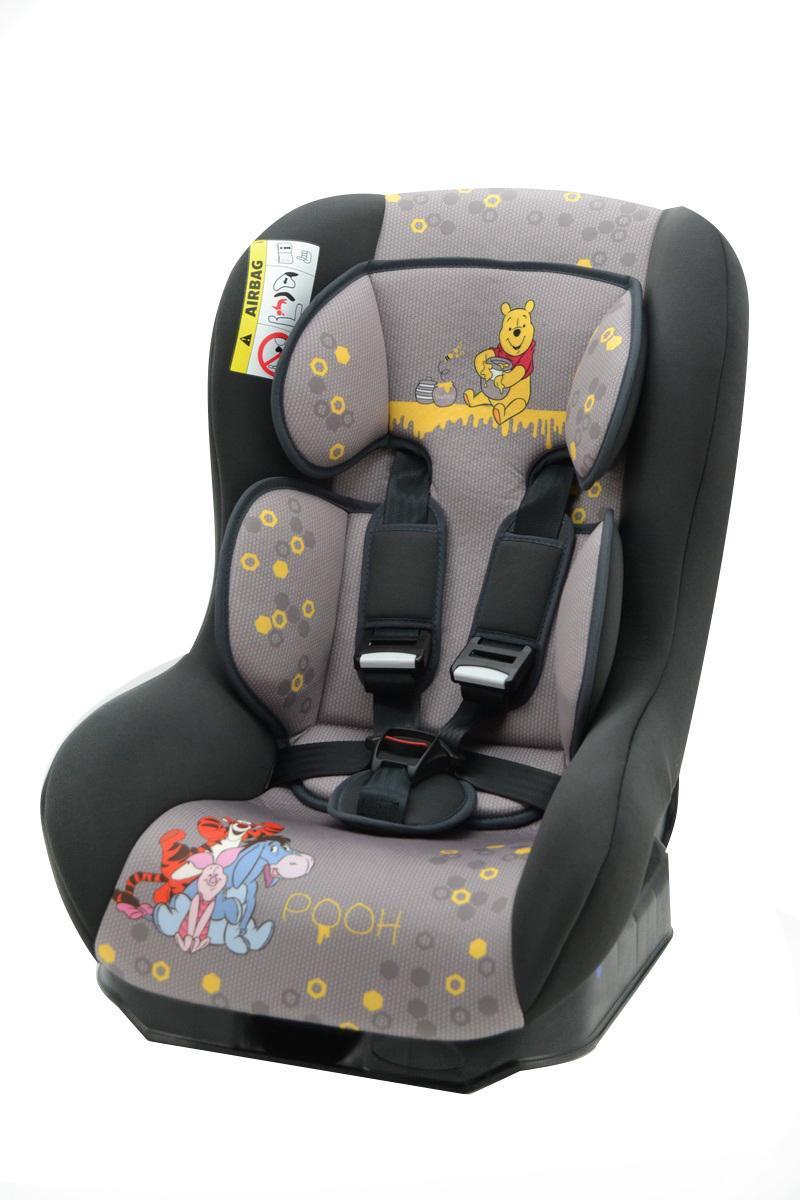Автокресло Nania Driver гр.0-1 Winnie the pooh DisneyВетерок 2ГФКогда вес ребенка достигнет 9-ти кг, кресло следует устанавливать лицом в направлении движения автомобиля, однако только на заднем сиденье. Конструкция авто-кресел этой группы представляет собой пластиковую основу на силовом каркасе. Благодаря тому, что наклон спинки можно регулировать, малыш сможет спокойно спать во время долгих путешествий.
