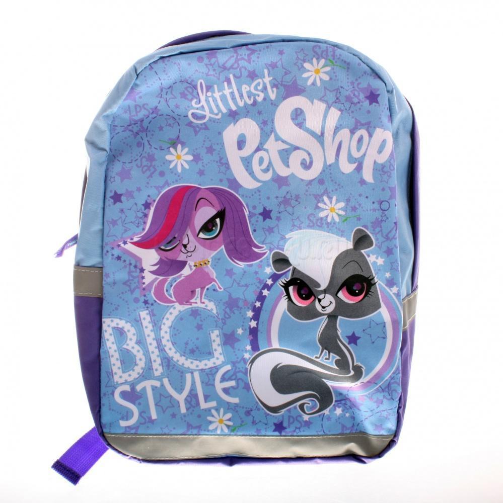 Рюкзак, размер 35 x 26 x 10 см. Littlest Pet Shop72523WDРюкзак для свободного времени. Одно вместительное отделение не имеет разделителей. Лямки с поролоновыми вставками, регулируются по длине. Ручка текстиль. Светоотражающие элементы спереди, по бокам и на лямках.