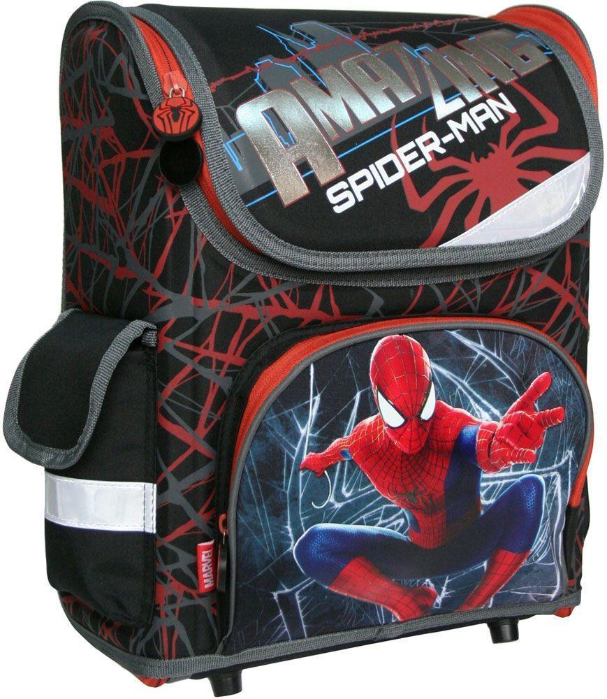 Рюкзак-трансформер Amazing Spider-Man 2, эргономичный, с EVA-спинкой72523WDРанец-трансформер с изображением героя популярных комиксов понравится мальчикам младшего школьного возраста. Его конструкция создана с учетом анатомических особенностей ребенка. Рюкзак имеет основное отделение на молнии. Внутреннее отделение с двумя разделителями, которые фиксируются резинкой, чтобы избежать движения предметов по рюкзаку. На фронтальной части карман на молнии. С одной боковой стороны карман-сетка, с другой закрытый карманна липучке. Благодаря прорезиненной ручке, рюкзак удобно носить в руке. Лямки выполнены с использованием поролона и воздухообменного сетчатого материала, регулируются по длине. Дно рюкзака имеет пластиковые ножки. Рюкзак снабжен светоотражающими элементами спереди, по бокам и на лямках.