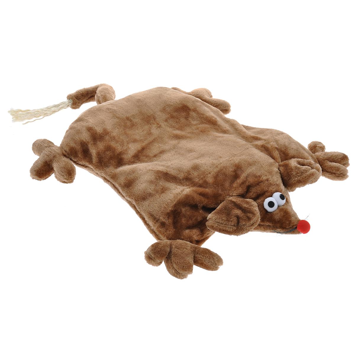Лежанка для кошек I.P.T.S. Мышь, цвет: коричневый, 45 см х 59 см х 9 см0120710Лежанка I.P.T.S. Мышь станет излюбленным местом отдыха для вашего питомца, ведь уютное плюшевое спальное место по достоинству оценит даже самый привередливый кот. Лежанка имеет форму мыши и немного напоминает мягкую плоскую подушку. Ваш питомец сможет поиграть с длинным хвостиком или забавными усиками. Изделие будет одинаково хорошо смотреться как в гостиной, так и в другой комнате, поскольку вписывается в любой интерьер. Можно стирать в стиральной машине при 30°C. Размер лежанки: 45 см х 59 см х 9 см. Товар сертифицирован.
