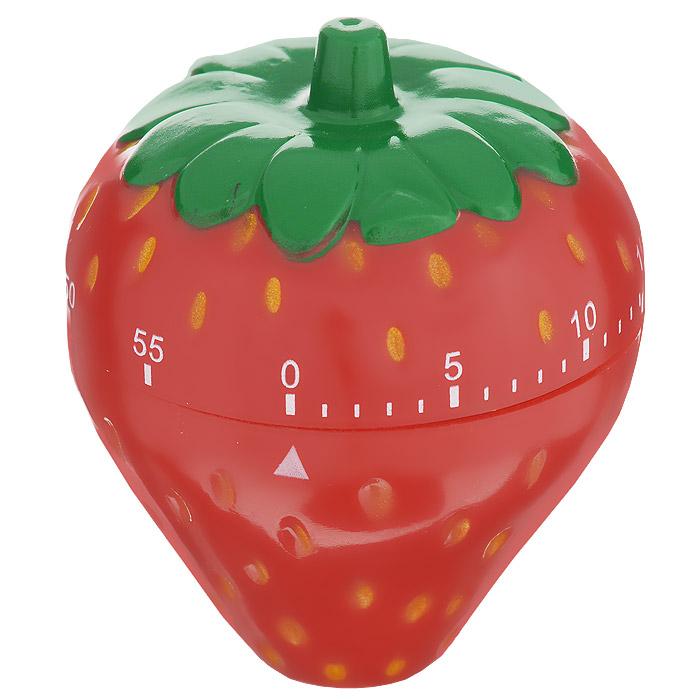 Таймер кухонный Клубника, на 60 минутZM-11024Кухонный таймер Клубника изготовлен из цветного пластика. Таймер выполнен в виде клубники. Максимальное время, на которое вы можете поставить таймер, составляет 60 минут. После того, как время истечет, таймер громко зазвенит. Оригинальный дизайн таймера украсит интерьер любой современной кухни, и теперь вы сможете без труда вскипятить молоко, отварить пельмени или вовремя вынуть из духовки аппетитный пирог.