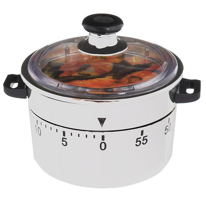 Таймер кухонный Кастрюля, на 60 минутBK-3930Кухонный таймер Кастрюля изготовлен из цветного пластика. Таймер выполнен в виде кастрюли. Максимальное время, на которое вы можете поставить таймер, составляет 60 минут. После того, как время истечет, таймер громко зазвенит. Оригинальный дизайн таймера украсит интерьер любой современной кухни, и теперь вы сможете без труда вскипятить молоко, отварить пельмени или вовремя вынуть из духовки аппетитный пирог.
