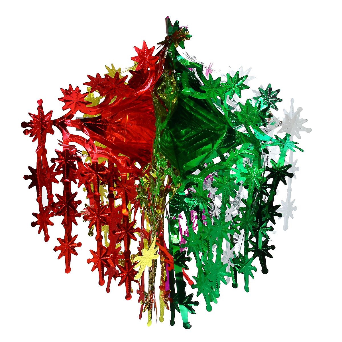 Новогодняя гирлянда Невероятные вензеля, цвет: мульти, 24 х 50 см 3438731806Новогодняя гирлянда прекрасно подойдет для декора дома или офиса. Украшение выполнено из разноцветной металлизированной фольги. С помощью специальных петелек гирлянду можно повесить в любом понравившемся вам месте. Украшение легко складывается и раскладывается. Новогодние украшения несут в себе волшебство и красоту праздника. Они помогут вам украсить дом к предстоящим праздникам и оживить интерьер по вашему вкусу. Создайте в доме атмосферу тепла, веселья и радости, украшая его всей семьей.