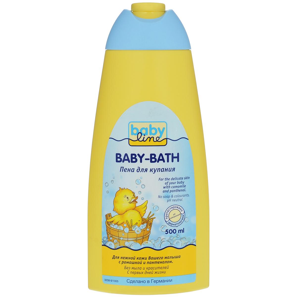 BabyLine Пена для купания, с ромашкой и пантенолом, 500 млFS-54115Пена для купания очищает нежно и мягко. Подходит для детей и взрослых.Товар сертифицирован.