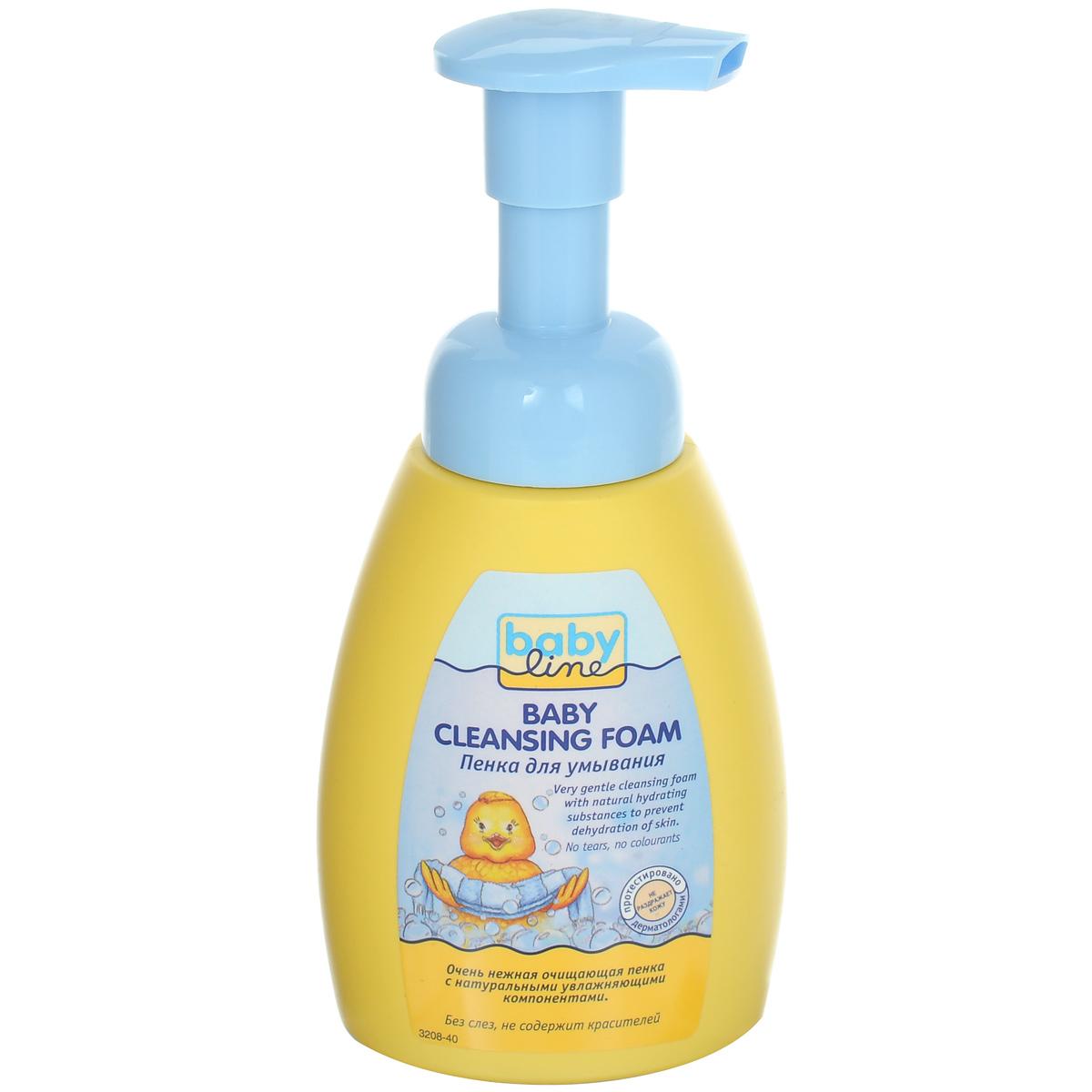 BabyLine Пенка для умывания детская, без слез, 250 млFS-00897Детская пенка для умывания с благоприятными для кожи растительными экстрактами бережно моет и увлажняет кожу вашего малыша. Без слез.Не содержит мыла и консервантов. Содержит пшеничный протеин, бережно ухаживающий за кожей ребенка.Товар сертифицирован.
