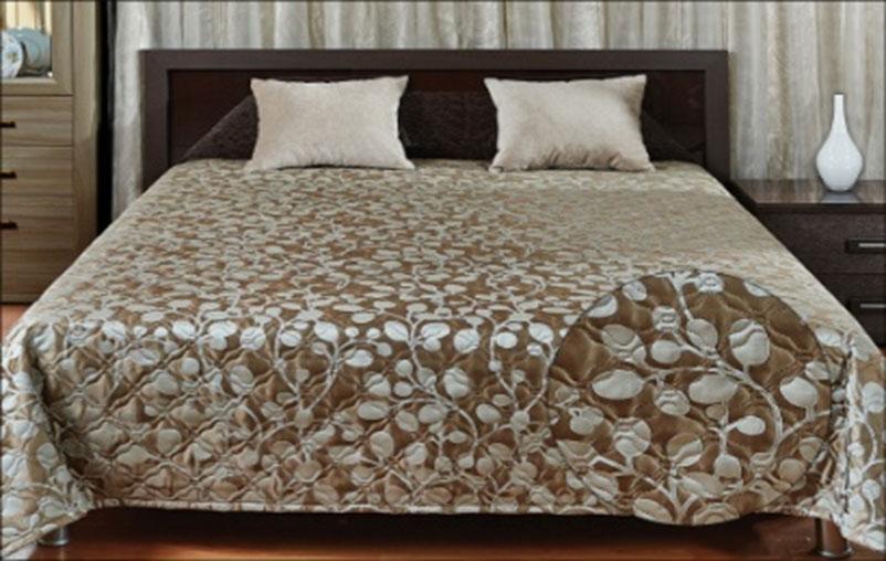 Покрывало Primavelle Livia, цвет: коричневый, 240 х 240 смES-412Стильное покрывало Primavelle Livia, выполненное из вискозы и полиэстера, прекрасно дополнит ваш интерьер. Оригинальный жаккардовый рисунок покрывала и гладкий приятный на ощупь материал подчеркнут индивидуальность вашей спальни. Изделие изготовлено по современной технологии безниточного соединения тканей Ультрастеп. Такой метод стежки значительно продлевает срок службы покрывала и добавляет ему особую изюминку, благодаря художественной стежке.Покрывало упаковано в пластиковую сумку-чехол, закрывающуюся на застежку-молнию.Материал: 40% вискоза, 60% полиэстер.