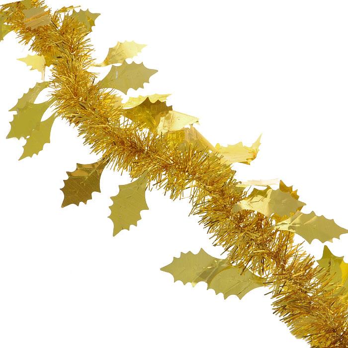 Мишура новогодняя Magic Time, с листьями, диаметр 9 см, длина 200 см, цвет: золотистый. 2692536929Новогодняя мишура Magic Time, выполненная из ПЭТ (Полиэтилентерефталат), поможет вам украсить свой дом к предстоящим праздникам. Изделие выполнено в виде скрученной косички. Новогодняя елка с таким украшением станет еще наряднее. Мишура армирована, то есть имеет проволоку внутри и способна сохранять форму. Новогодней мишурой можно украсить все, что угодно - елку, квартиру, дачу, офис - как внутри, так и снаружи. Можно сложить новогодние поздравления, буквы и цифры, мишурой можно украсить и дополнить гирлянды, можно выделить дверные колонны, оплести дверные проемы. Коллекция декоративных украшений из серии Magic Time принесет в ваш дом ни с чем несравнимое ощущение волшебства! Создайте в своем доме атмосферу тепла, веселья и радости, украшая его всей семьей.