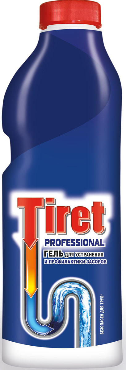 Гель для удаления засоров Tiret professional, 1 л391602Гель Тiret professional предназначен для чистки труб. Гель эффективно устраняет очень сильные засоры лучше, чем традиционные методы и средства. Густая структура геля позволяет продукту проникать глубоко в трубу даже при наличии воды в раковине. Убивает бактерии и устраняет неприятный запах.Характеристики: Объем: 1 л.Товар сертифицирован.