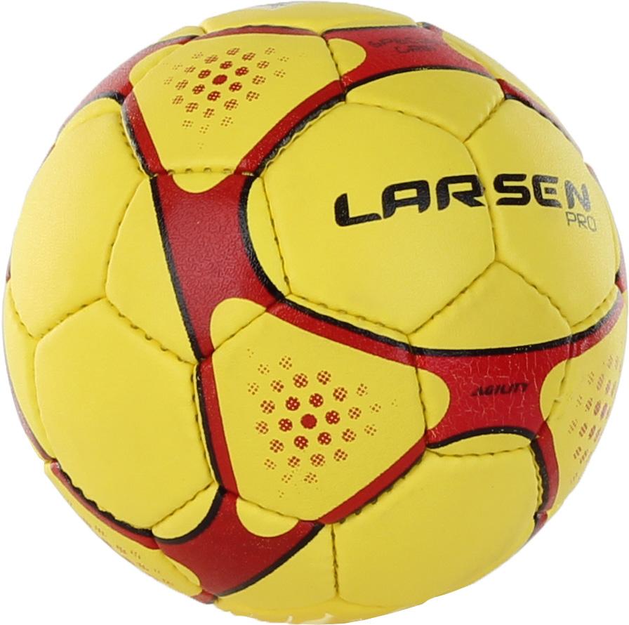 Мяч гандбольный Larsen Pro L-Men, цвет: красный, желтый, черный. Размер 2BY4533Гандбольный мяч Larsen Pro L-Men подойдет для игры на всех покрытиях. Он выполнен из синтетической кожи и полиуретана. Имеет 4 слоя подкладочного материала - 3 слоя поликоттон и 1 поливискоза. Ручная сшивка. 32 панели. Камера выполнена из латекса, с бутиловым ниппелем.Окружность: 54 см.