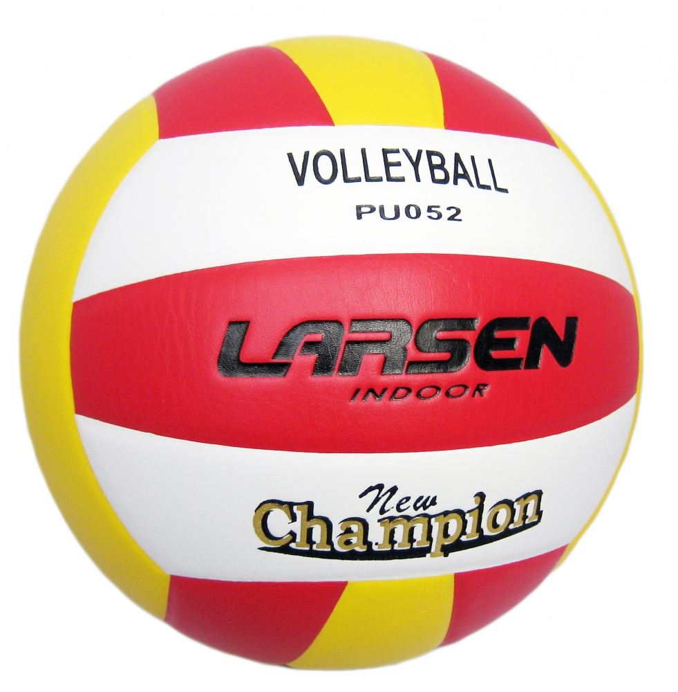 Мяч волейбольный Larsen, цвет: желтый, красный, белый. 97082PU038Волейбольный мяч Larsen выполнен из полиуретана и имеет камеру и ниппель из резины. Клееный волейбольный мяч предназначен для тренировок начинающих игроков, школьных тренировок и для игры в зале.Окружность: 65-67 см.