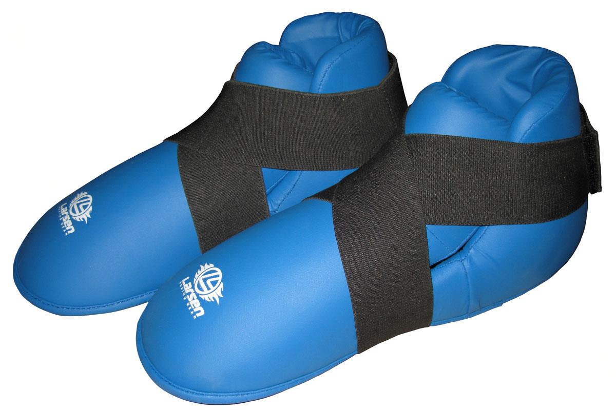 Защита стопы Larsen, цвет: синий. Размер XL270028Защита стопы Larsen предназначена для занятий единоборствами. Выполнена из прочного полиуретана. Защита оснащена эластичной манжетой на застежке Velcro для фиксации.