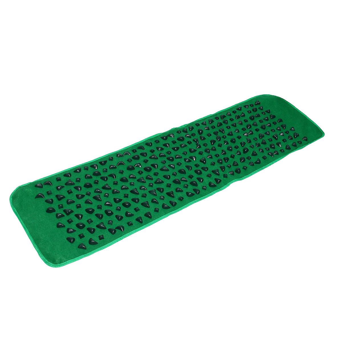 Коврик массажный Lite Weights, с камнями, цвет: зеленый, 142 х 39 х 0,2 смMCI54145_WhiteОртопедический коврик с имитацией гальки прекрасно подходит как для лечения различных заболеваний, так и просто для расслабляющего оздоравливающего массажа стоп. Его использование рекомендовано при плоскостопии, нарушении опорно-двигательной функции стопы, ассиметричной и аритмичной ходьбе, деформациях стопы после хирургического вмешательства и т.д. Коврик изготовлен из безопасных материалов и выполнен в виде дорожки с имитацией морской гальки, поэтому его использование не только полезно, но и приятно радует глаз!
