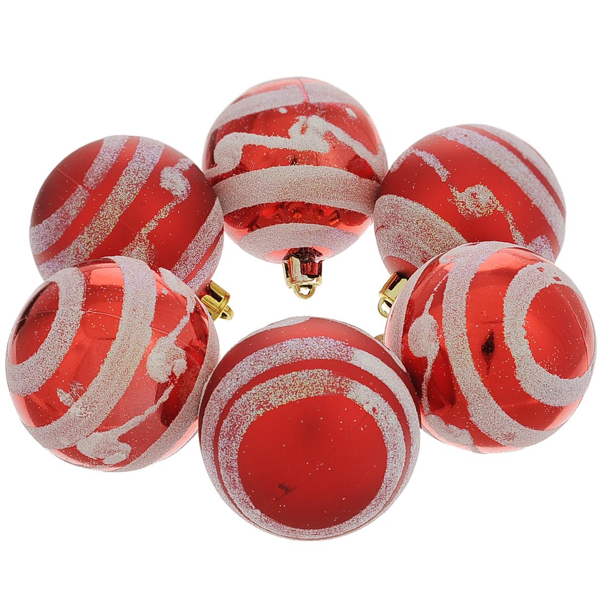 Набор новогодних подвесных украшений Шар, цвет: красный, серебристый, диаметр 6 см, 6 шт. 3550434905Набор новогодних подвесных украшений Шар прекрасно подойдет для праздничного декора новогодней ели. Состоит из шести шаров.Елочная игрушка - символ Нового года. Она несет в себе волшебство и красоту праздника. Создайте в своем доме атмосферу веселья и радости, украшая новогоднюю елку нарядными игрушками, которые будут из года в год накапливать теплоту воспоминаний. Коллекция декоративных украшений принесет в ваш дом ни с чем несравнимое ощущение волшебства! Откройте для себя удивительный мир сказок и грез. Почувствуйте волшебные минуты ожидания праздника, создайте новогоднее настроение вашим дорогим и близким.