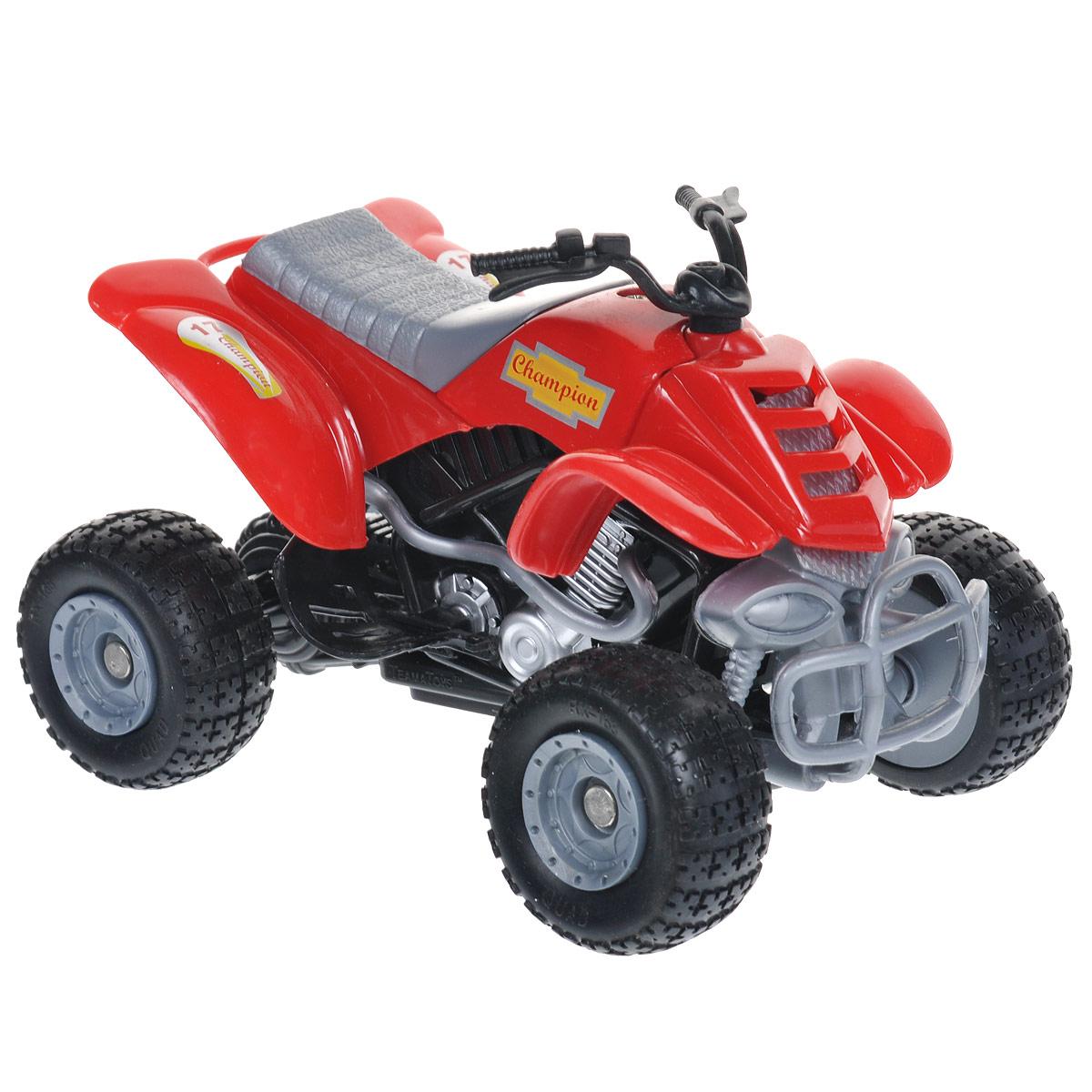 Autotime Коллекционная модель  Мотоцикл Quadrobike Monster , цвет: красный