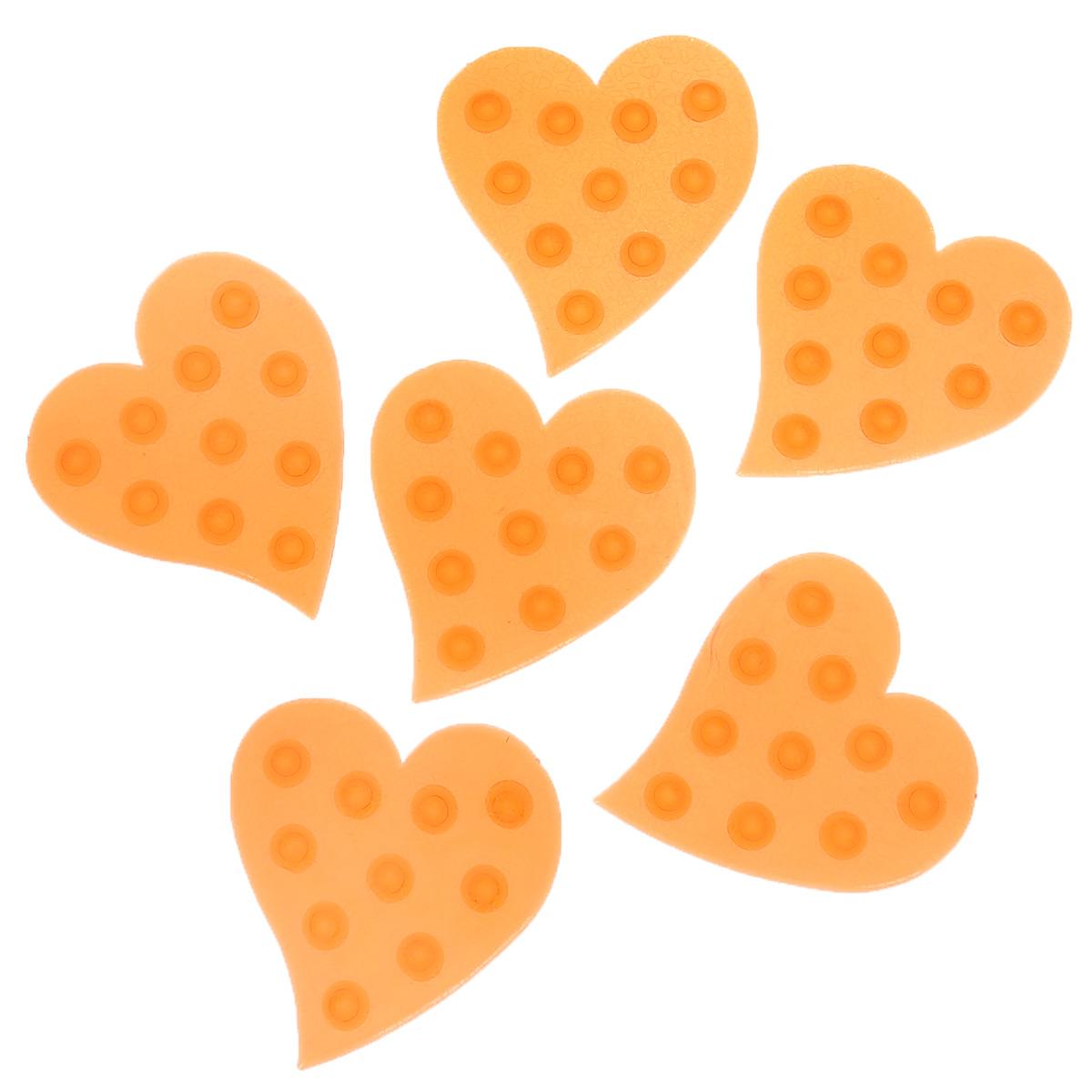 Набор мини-ковриков для ванной Dom Company Сердце, цвет: красный, 6 шт.BH-UN0502( R)Набор Dom Company Сердце состоит из шести мини-ковриков для ванной, изготовленных из 100% полимерных материалов в форме сердец. Коврики оснащены присосками, предотвращающими скольжение. Их можно крепить на дно ванны или использовать как декор для плитки. Коврики легко чистить.