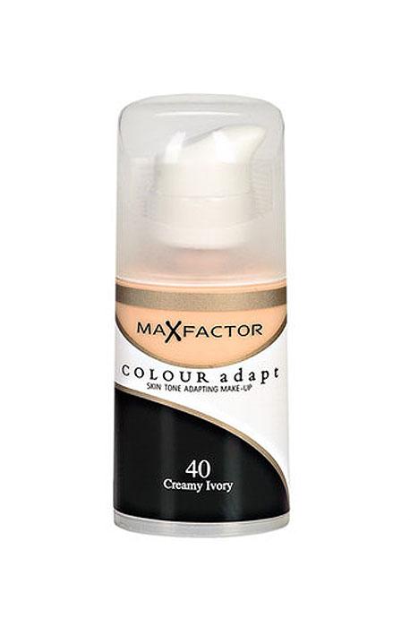 Max Factor Тональный крем Colour Adapt, тон 40 Creamy Ivory (Слоновая кость), 34 мл80957262Тональная основа, которая поможет справиться с неровным тоном лица. Тональная основа Max Factor Colour Adapt адаптируется ктону кожи и создает естественное покрытие. Так в чемже секрет? «Умные частицы» тональной основы адаптируются ктону кожи, который отличается в разных зонах, обеспечивая невероятно легкое покрытие и не маскируя естественное свечение кожи. Тональная основа Max Factor Colour Adapt обеспечивает идеальный тон, кожа выглядит свежей и сияющей весь день. Инновационная технология для совершенства кожи. Помогает выровнять тон кожи, скрыть несовершенства и мелкие морщинки для создания идеального образа. Тональная основа Max Factor Colour Adapt имеет легкую формулу крем-пудры и подстраивается под любой тон кожи для удивительно естественного образа. Эмульсия на основе силикона и эластомера адаптируется ктону кожи и обеспечивает естественное умеренное покрытие для создания нежного и невесомого макияжа. Основа не содержит масел, подходит для чувствительной кожи, протестирована дерматологами, не закупоривает поры. Кремово-пудровая текстура для безупречного покрытия. Ультралегкая формула не сушит кожу. Содержит несколько цветовых пигментов, которые адаптируются ктону кожи. Не содержит масла, подходит для чувствительной кожи. Не закупоривает поры. Протестировано дерматологами.Сравни тон основы с тоном кожи на щеках и линии челюсти, чтобы подобрать идеальный оттенок. Если тон подобран правильно, то он буквально исчезнет на твоей коже. Чтобы достичь ровного покрытия, нанеси небольшое количество основы на тыльную сторону ладони и распредели по лицу кистью или кончиками пальцев. Нанеси небольшое количество на центральную часть лица и растушуй от центра кпериферии. Нанеси средство на веки и губы в качестве базы под тени и помаду.
