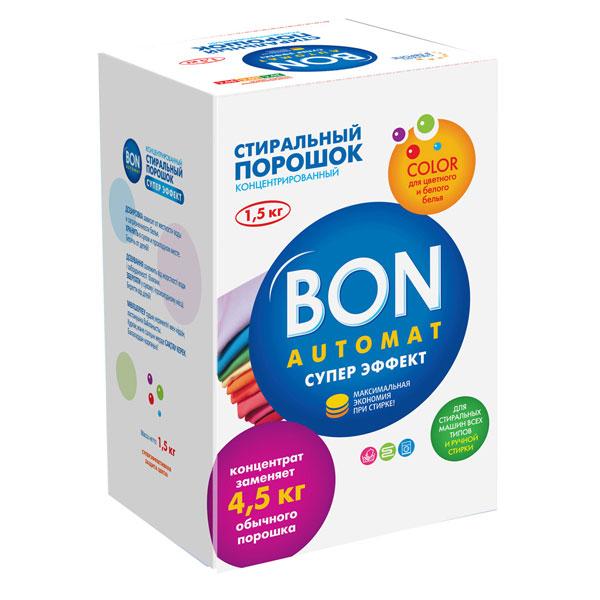 Стиральный порошок Bon Automat Супер Эффект, концентрированный, с поддержкой цвета, 1,5 кгBN-138