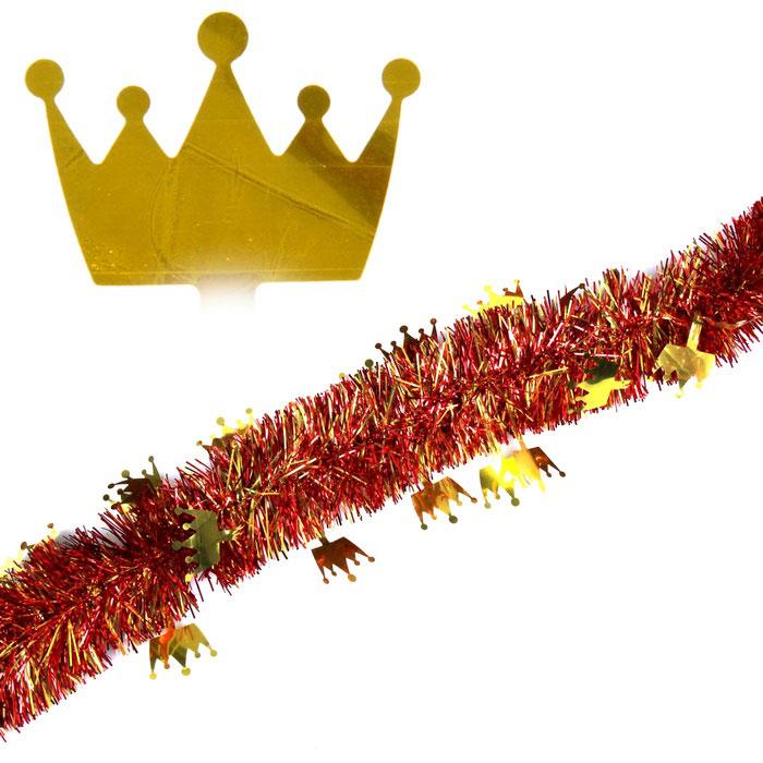 Мишура новогодняя Sima-land, цвет: золотистый, красный, диаметр 7 см, длина 2 м. 27937719201Новогодняя мишура Sima-land, выполненная из фольги, поможет вам украсить свой дом к предстоящим праздникам. А новогодняя елка с таким украшением станет еще наряднее. Мишура армирована, то есть имеет проволоку внутри и способна сохранять приданную ей форму. Новогодней мишурой можно украсить все, что угодно - елку, квартиру, дачу, офис - как внутри, так и снаружи. Можно сложить новогодние поздравления, буквы и цифры, мишурой можно украсить и дополнить гирлянды, можно выделить дверные колонны, оплести дверные проемы. Коллекция декоративных украшений из серии Зимнее волшебство принесет в ваш дом ни с чем несравнимое ощущение праздника! Создайте в своем доме атмосферу тепла, веселья и радости, украшая его всей семьей.