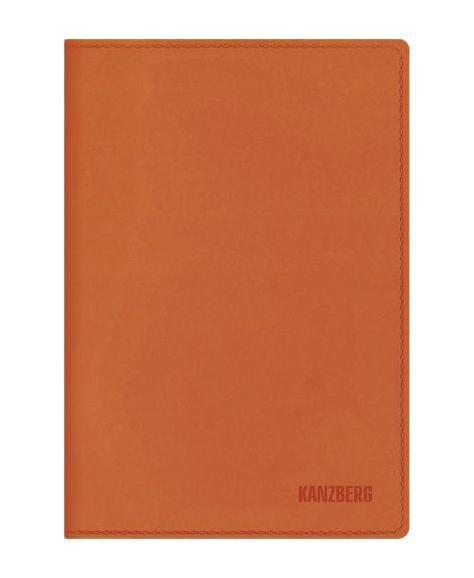 Ежедневник А5 Недатированный Оранжевый 152л. (KANZBERG Premium collection) Искусственная кожа, мягкая обложка72523WDЕжедневники KANZBERG Premium collection - это великолепное сочетание высокогокачества и стильного дизайна. Ежедневник KANZBERG Premium collection комфортен в использовании. Удобные размеры позволят всегда носить его с собой и помогут правильно организовать свой день. Стильный дизайн ежедневника с термотиснением и цветным торцом идеально подчеркнет индивидуальность своего обладателя идополнит его деловой стиль. Закладки (ляссе) помогут быстро найти нужные страницы, а недатированный блок позволит начать вести ежедневник с любого дня. Ежедневник KANZBERG Premium collection - это неотъемлемый атрибут современного делового человека, который ценит свое время, комфорт, качество и стиль. Разметка: . Бумага: офсет. Формат: А5. Пол: Унисекс. Особенности: скругленные уголки, цветной торец блока, ляссе, термотиснение.