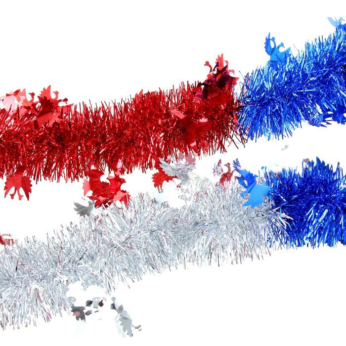 Мишура новогодняя Sima-land, цвет: синий, красный, серебристый, диаметр 7 см, длина 2 м. 279389NLED-446-9W-BKМишура новогодняя Sima-land, выполненная из трехцветной фольги, поможет вам украсить свой дом к предстоящим праздникам. Мишура армирована, то есть имеет проволоку внутри и способна сохранять приданную ей форму.Новогодняя елка с таким украшением станет еще наряднее. Новогодней мишурой можно украсить все, что угодно - елку, квартиру, дачу, офис - как внутри, так и снаружи. Можно сложить новогодние поздравления, буквы и цифры, мишурой можно украсить и дополнить гирлянды, можно выделить дверные колонны, оплести дверные проемы. Коллекция декоративных украшений из серии Зимнее волшебство принесет в ваш дом ни с чем несравнимое ощущение праздника! Создайте в своем доме атмосферу тепла, веселья и радости, украшая его всей семьей.