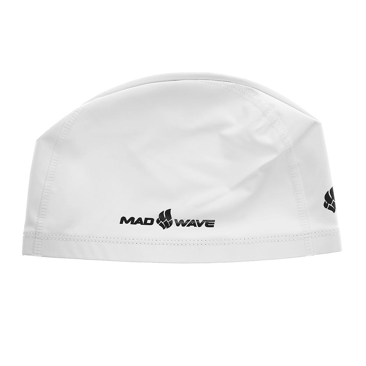 Шапочка для плавания Mad Wave PUT Coated, цвет: белыйSF147A-1137Текстильная шапочка Mad Wave PUT Coated с полиуретановым покрытием. Лучший выбор для ежедневных тренировок. Легкая и эргономичая. Легко снимается и надевается, хорошо садится по форме головы и очень комфортна, благодаря комбинации нескольких материалов.
