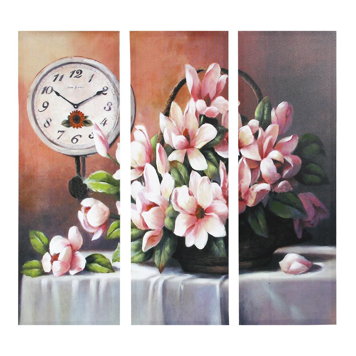 """Картина-репродукция без рамки """"Цветы"""", 78 х 80 х 2,5 см 36036"""