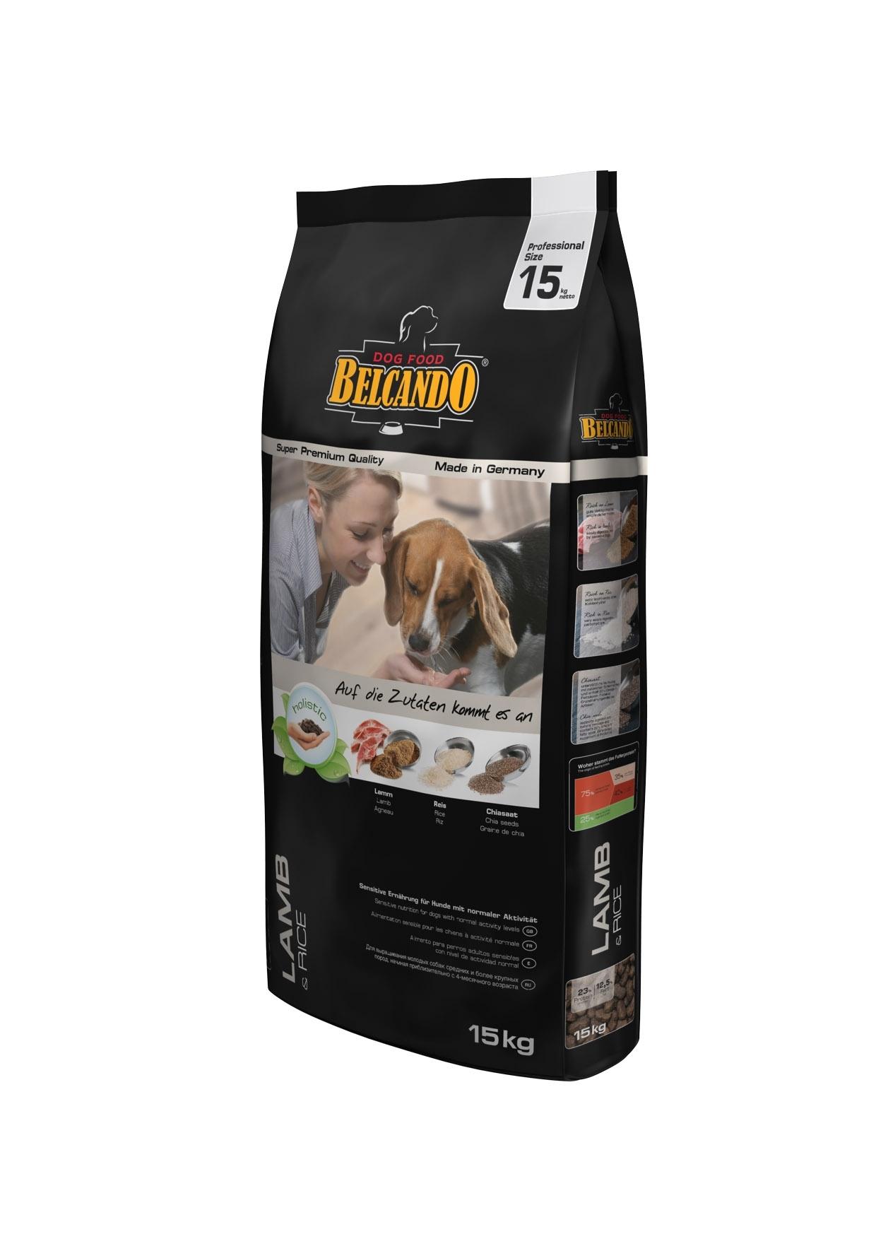 Корм сухой Belcando Lamb Rice, гипоаллергенный, для взрослых собак с нормальной активностью, на основе ягненка, 15 кг0120710Особая формула корма Belcando Lamb Rice ориентирована на собак, которые страдают пищевыми расстройствами, а так же индивидуальной непереносимостью таких популярных мясных ингредиентов, как говядина и мясо цыпленка. Ягненок и рис - лучшая основа для гипоаллергенного корма, которая позволяет избежать непереносимости у чувствительных животных, но при этом получить все необходимые питательные вещества, витамины и микроэлементы.Состав: рис (40 %); сухое мясо ягненка (15 %); сухое мясо птицы пониженной зольности (12,5 %); овес; жир домашней птицы; рафинированное растительное масло; вытяжка из виноградной косточки; пивные дрожжи; семена чии (1,5 %); овсяные хлопья; льняное семя; гидролизат печени птицы; поваренная соль; калий хлористый; травы (всего 0,2 %: листья крапивы, корень горечавки, золототысячник, ромашка, фенхель, тмин, омела, тысячелестник, листья ежевики); экстракт юкки.Питательные добавки: Витамин А: 13,000 МЕ/кг, Витамин Е: 130 мг/кг, Витамин D3: 1,300 МЕ/кг, Кальций: 1,4%, Фосфор: 0,9%.Содержание питательных веществ: Протеин: 23%, Жир: 12,5%, Клетчатка 3,2%, Зола: 6,5%, Влажность: 10%. Товар сертифицирован.