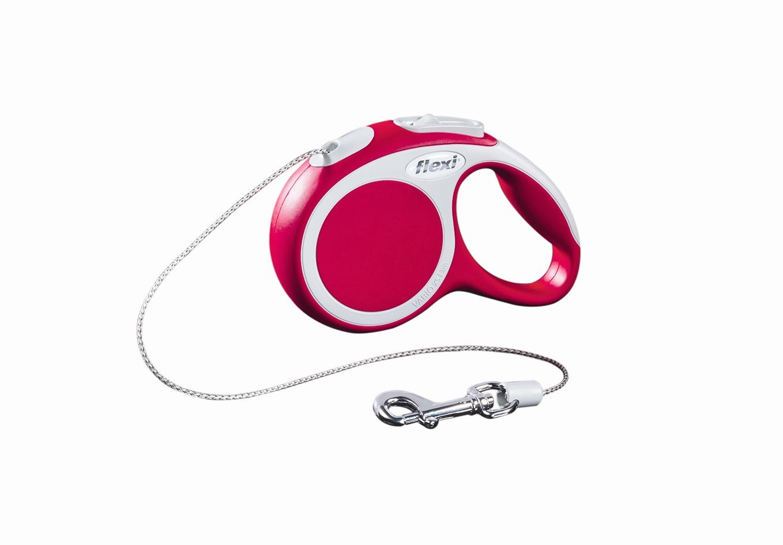 Поводок-рулетка Flexi Vario Basic ХS для собак до 8 кг, цвет: красный, 3 м0120710Поводок-рулетка Flexi Vario Basic ХS изготовлен из пластика и нейлона. Тросовый поводок обеспечивает каждой собаке свободу движения, что идет на пользу здоровью и радует вашего четвероногого друга. Рулетка очень проста в использовании, оснащена кнопками кратковременной и постоянной фиксации. Ее можно оснастить - мультибоксом для лакомств или пакетиков для сбора фекалий, LED подсветкой корпуса, своркой или ремнем с LED подсветкой. Поводок имеет прочный корпус, хромированную застежку и светоотражающие элементы.Длина поводка: 3 м. Максимальная нагрузка: 8 кг.Товар сертифицирован.