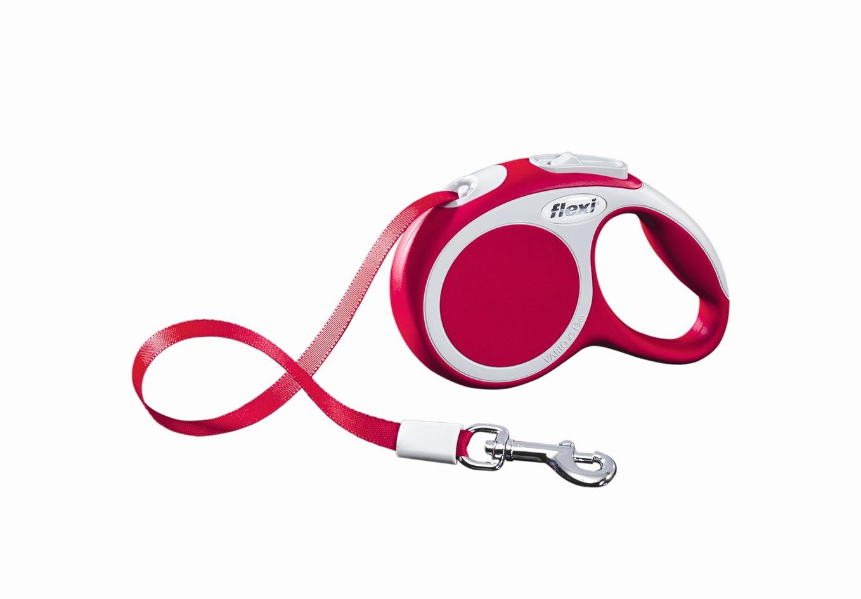 Поводок-рулетка Flexi Vario Compact ХS для собак до 12 кг, цвет: красный, 3 м0120710Поводок-рулетка Flexi Vario Compact ХS изготовлен из пластика и нейлона. Ленточный поводок обеспечивает каждой собаке свободу движения, что идет на пользу здоровью и радует вашего четвероногого друга. Рулетка очень проста в использовании, оснащена кнопками кратковременной и постоянной фиксации. Ее можно оснастить - мультибоксом для лакомств или пакетиков для сбора фекалий, LED подсветкой корпуса, своркой или ремнем с LED подсветкой. Поводок имеет прочный корпус, хромированную застежку и светоотражающие элементы.Длина поводка: 3 м. Максимальная нагрузка: 12 кг.Товар сертифицирован.