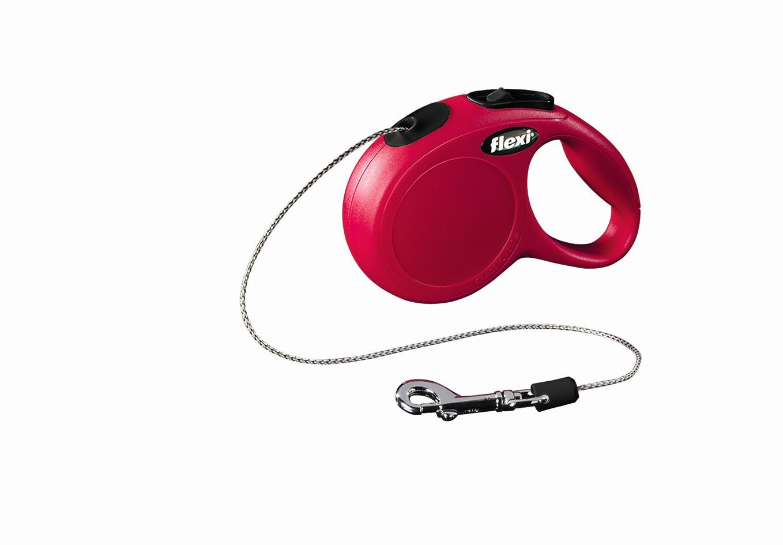 Поводок-рулетка Flexi Classic Basic Mini XS для собак до 8 кг, цвет: красный, 3 м0120710Поводок-рулетка Flexi Classic Basic Mini XS изготовлен из пластика и нейлона. Подходит для собак весом до 8 кг. Тросовый поводок обеспечивает каждой собаке свободу движения, что идет на пользу здоровью и радует вашего четвероногого друга. Рулетка очень проста в использовании. Она оснащена кнопками кратковременной и постоянной фиксации. Ее можно оснастить мультибоксом для лакомств или пакетиков для сбора фекалий, LED подсветкой корпуса, своркой или ремнем с LED подсветкой. Поводок имеет прочный корпус, хромированную застежку и светоотражающие элементы.Длина поводка: 3 м. Максимальная нагрузка: 8 кг.Товар сертифицирован.