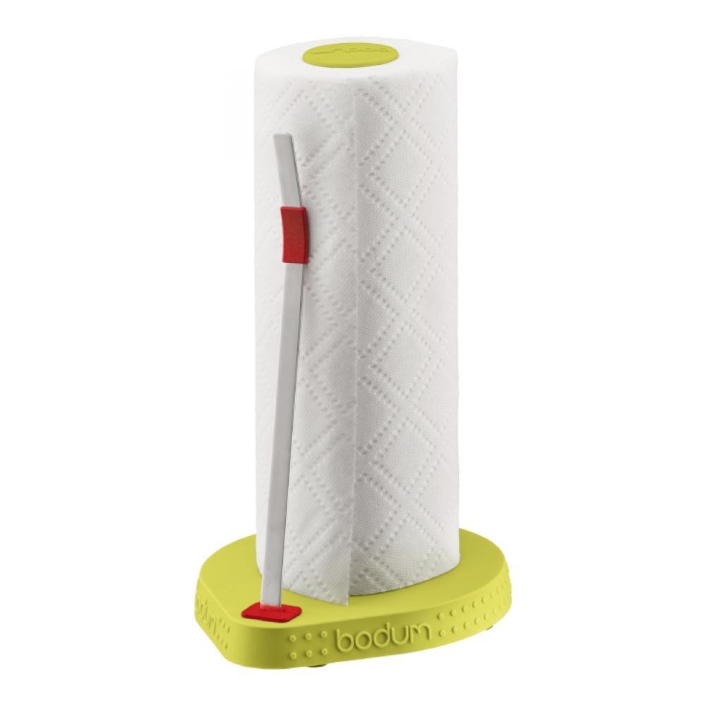 Держатель для бумажных полотенец Bodum Bistro, цвет: зеленый, высота 26,5 смВетерок 2ГФДержатель Bodum Bistro предназначен для бумажных полотенец. Он изготовлен из высококачественного пластика и оснащен фиксатором для полотенец. Круглое основание обеспечивает устойчивость держателя. Вы можете установить его в любом удобном месте. Такой держатель для бумажных полотенец станет полезным аксессуаром в домашнем быту и идеально впишется в интерьер современной кухни.Высота держателя: 26,5 см.Диаметр основания держателя: 16 см.УВАЖАЕМЫЕ КЛИЕНТЫ!Обращаем ваше внимание на тот факт, что бумажные полотенца в комплект не входят, а служат для визуального восприятия товара.