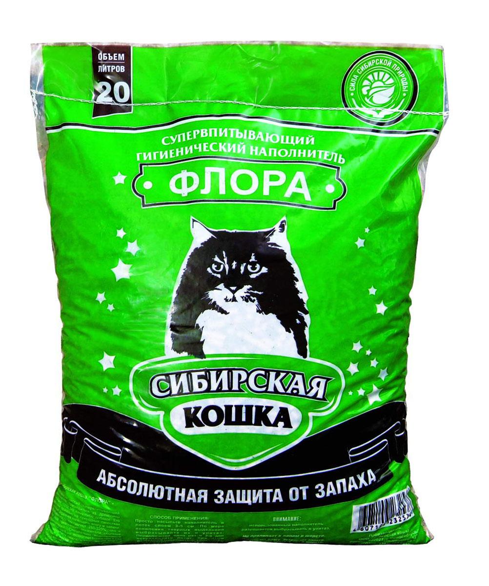 Наполнитель для кошачьих туалетов Сибирская Кошка Флора, 20 л2538Наполнитель для кошачьих туалетов Сибирская кошка Флора - экологически чистый супервпитывающий наполнитель. Производится из древесины хвойных пород, без каких либо добавок. Его действие основано на природных свойствах хвойных деревьев, поглощать влагу, запахи. Впитываемость составляет 260-320%), что в 3 раза превосходит показатели обычных наполнителей. Специально подобранный размер гранул (6 мм) позволяет более чем в 2 раза увеличить скорость впитывания влаги и запахов, а также в 1,5 раза уменьшить расход наполнителя по сравнению с другими древесными наполнителями.Наполнитель обладает естественным природным запахом хвои и не содержит искусственных ароматизаторов. Состав: стружка сибирской сосны. Размеры гранулы: 6 мм. Товар сертифицирован.