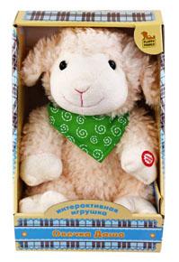 Мягкая интерактивная игрушка Fluffy Family Овечка Даша, 25 см интерактивная игрушка fluffy family бобер повторяшка от 3 лет 681012 коричневый