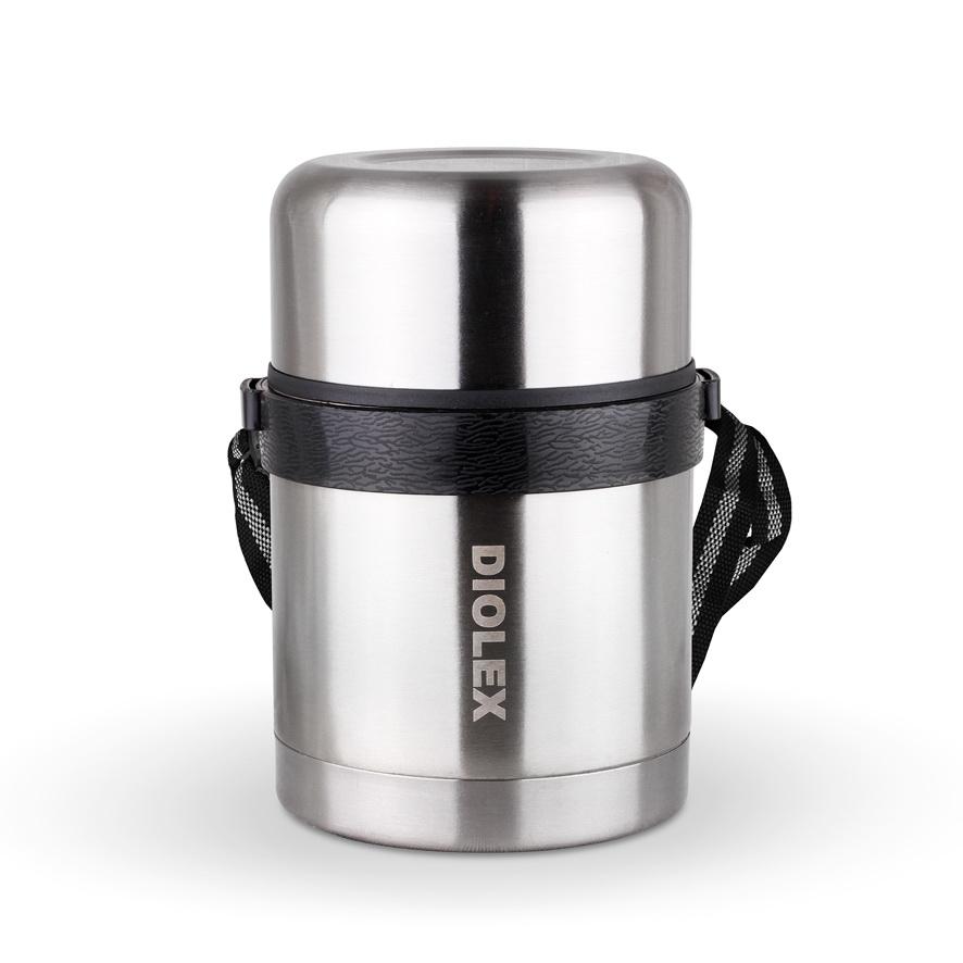Термос Diolex, 0,6 л. DXF-600-1115510Термос Diolex изготовлен из высококачественной нержавеющей стали. Он имеет небьющуюся двойную внутреннюю колбу и изолированную крышку. Съемный ремешок для переноски делает использование термоса легким и удобным.Термос сохраняет напитки и продукты горячими в течение 12 часов, а холодными в течение 24 часов. Легкий и прочный термос Diolex идеально подойдет для транспортировки и путешествий. Высота термоса (с учетом крышки): 16 см. Диаметр основания: 10,5 см.