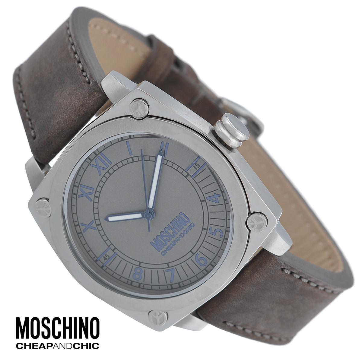 Часы мужские наручные Moschino, цвет: серебристый, коричневый. MW0295BM8434-58AEНаручные часы от известного итальянского бренда Moschino - это не только стильный и функциональный аксессуар, но и современные технологи, сочетающиеся с экстравагантным дизайном и индивидуальностью. Часы Moschino оснащены кварцевым механизмом. Корпус выполнен из высококачественной нержавеющей стали с сатиновой полировкой. Циферблат с римскими и арабскими цифрами защищен минеральным стеклом. Часы имеют три стрелки - часовую, минутную и секундную. Ремешок часов выполнен из толстой натуральной кожи и оснащен классической застежкой. Часы упакованы в фирменную металлическую коробку с логотипом бренда. Часы Moschino благодаря своему уникальному дизайну отличаются от часов других марок своеобразными циферблатами, функциональностью, а также набором уникальных технических свойств. Каждой модели присуща легкая экстравагантность, самобытность и, безусловно, великолепный вкус. Характеристики:Диаметр циферблата: 3,5 см.Размер корпуса: 4,4 см х 4,5 см х 1 см.Длина ремешка (с корпусом): 26 см.Ширина ремешка: 2 см.