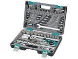 Набор инструментов Stels, 82 предмета09013Набор инструментов торговой марки Stels разработан специально для автолюбителей и центров технического обслуживания. Каждый этап производства контролируется в соответствии с международными стандартами. Головки и комбинированные ключи изготовлены из хромованадиевой стали, придающей инструменту исключительную твердость в сочетании с легкостью. Набор упакован в кейс, изготовленный из жесткого противоударного пластика.Состав набора:Ключ трещоточный 1/2.Ключ трещоточный 1/4.Головки торцевые 1/2: 14 мм, 15 мм, 16 мм, 17 мм, 18 мм, 19 мм, 20 мм, 22 мм, 24 мм, 27 мм, 30 мм, 32 мм.Головки торцевые 1/4: 4 мм, 4,5 мм, 5 мм, 5,5 мм, 6 мм, 7 мм, 8 мм, 9 мм, 10 мм, 11 мм, 12 мм, 13 мм, 14 мм.Удлинитель гибкий с отверточной рукояткой 1/4.Ключи комбинированные 8 мм, 10 мм, 11 мм, 12 мм, 13 мм, 14 мм, 17 мм, 19 мм, 22 мм.Кардан шарнирный 1/2.Кардан шарнирный 1/4.Удлинитель 1/2: 125 мм, 250 мм.Удлинитель 1/4: 50 мм, 100 мм.Адаптер для бит 1/4 (длина 30 мм).Головки свечные 1/2: 16 мм, 21 мм.Вороток Т-образный 1/4.Биты с торцевой головкой 1/4: H3, H4, H5, H6, T8, T10, T15, T20, T25, T30, SL4, SL5,5, SL7, PH1, PH2, PZ1, PZ2.Адаптер 1/2 на 3/8.Держатель для бит 1/2 на 5/16.Биты 5/16: T40, T45, T50, T55, SL8, SL10, SL12, Ph3, PH4, PZ3, PZ4, H8, H10, H12, H14.Отвертка-битодержатель 1/4.