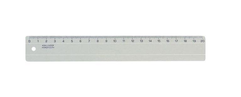 Линейка Koh-i-Noor, 20 см, цвет: дымчатыйFS-36054Классическая линейка Koh-i-Noor выполнена из пластика дымчатого цвета с четкой миллиметровой шкалой делений до 20 сантиметров. Характеристики: Длина линейки: 20 см.