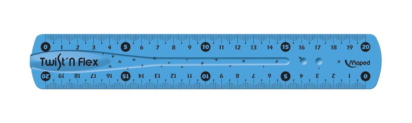 Линейка Maped Twistnflex, неломающаяся, цвет: голубой, 20 см279210Линейка Maped Twistnflex - это неломающаяся линейка, которую можно сгибать и скручивать неограниченное количество раз. Можно использовать как анти-стресс. Характеристики:Материал: пластик. Размер линейки: 22 см х 5,5 см х 0,2 см.