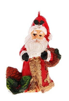 Свеча декоративная Sima-land Дед Мороз. 6803496113MСвеча декоративная Sima-land Дед Мороз - отличный подарок, подчеркивающий яркую индивидуальность того, кому он предназначается. Свеча выполнена из высококачественного воска в форме Деда Мороза с игрушками. Такая свеча украсит интерьер вашего дома или офиса в преддверии Нового года. Оригинальный дизайн и красочное исполнение создадут праздничное настроение. УВАЖАЕМЫЕ КЛИЕНТЫ! Обращаем ваше внимание на возможные изменения в дизайне некоторых деталей товара. Поставка осуществляется в зависимости от наличия на складе. Материал: воск.Размер свечи (без учета фитиля): 6 см х 3,5 см х 7 см.