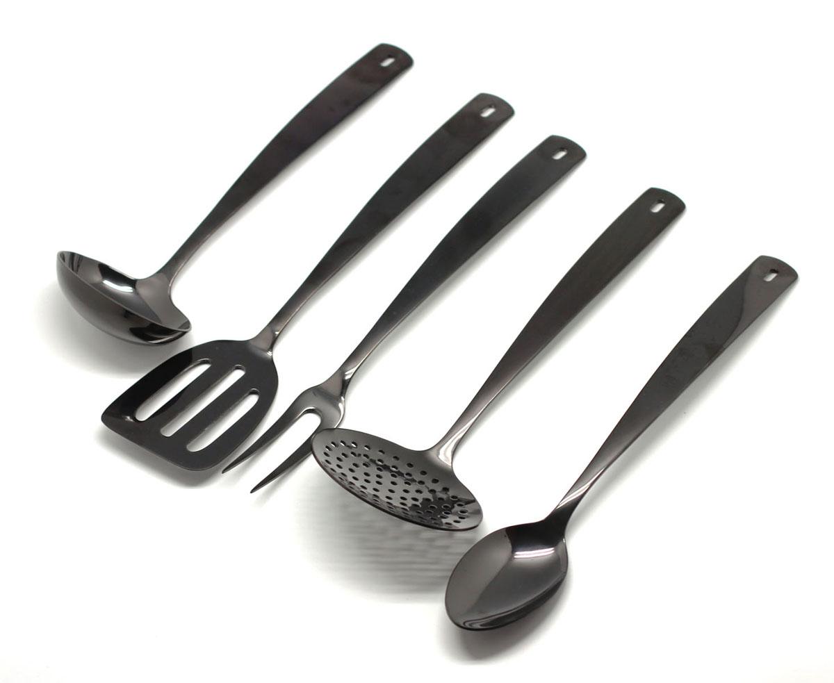 Набор кухонных принадлежностей Едим Дома Perugia Black, 5 предметов140800501170700001PERUGIA BLACK н-р кухонный 5пр.