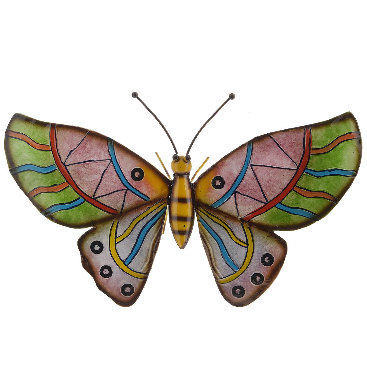 Панно декоративное настенное Molento Бабочка. 576-057POX1001Декоративное настенное панно Molento Бабочка, изготовленное из металла, позволит вам украсить интерьер дома, рабочего кабинета или любого другого помещения оригинальным образом. Изделие выполнено в виде бабочки с красивыми рельефными крыльями, оформленными ярким орнаментом. Панно оснащено специальным отверстием для подвешивания.С таким панно вы сможете не просто внести в интерьер элемент оригинальности, но и создать атмосферу загадочности и изысканности.