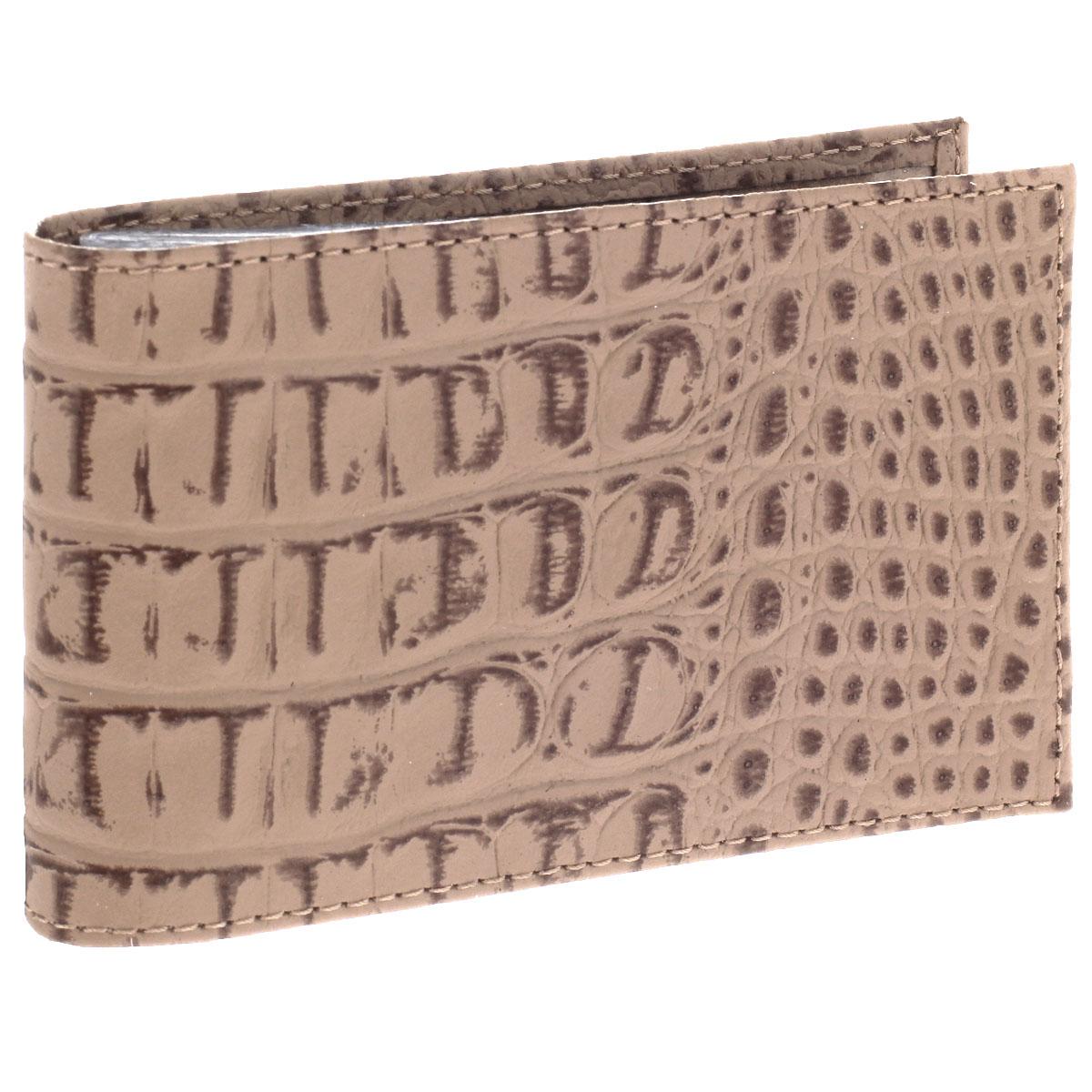 Визитница горизонтальная Befler, цвет: бежевый. V.30.-13T0CF8KQHXУльтрамодная горизонтальная визитница Befler изготовлена из натуральной кожи и декорирована тиснением под рептилию. Тыльная сторона оформлена названием бренда. Внутри содержится съемный блок из прозрачного мягкого пластика на 20 визиток, а также 2 удобных горизонтальных кармана. Изделие упаковано в фирменную коробку.Стильная визитница подчеркнет вашу индивидуальность и изысканный вкус, а также станет замечательным подарком человеку, ценящему качественные и практичные вещи.