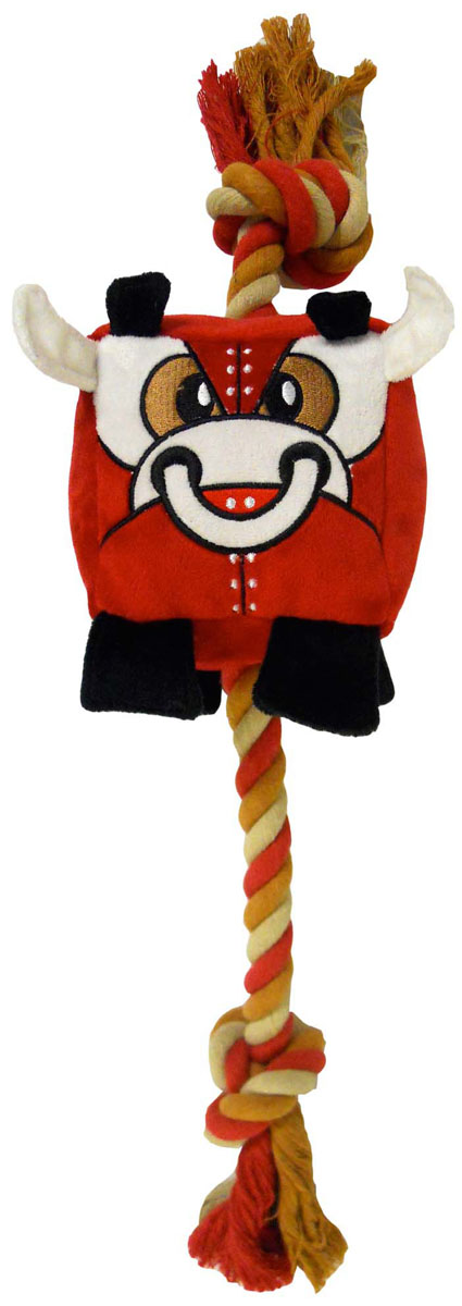 Игрушка для собак R2P Pet Chew bot. Красный бык. 30143014Игрушка R2P Pet Chew bot. Красный бык изготовлена из плотного текстиля и оснащена хлопковым канатом. Канат, благодаря своему материалу, способствует поддержанию чистоты зубов вашего питомца. Игрушка выполнены в виде красного быка.Размер игрушки (с учетом каната): 60 см х 13 см х 13 см.