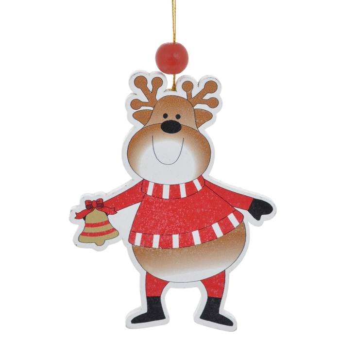 Новогоднее подвесное украшение Sima-land Веселый олень. 154262C0038550Новогоднее украшение Sima-land из дерева отлично подойдет для декорации вашего дома и новогодней ели. Украшение оснащено специальной текстильной петелькой для подвешивания.Елочная игрушка - символ Нового года. Она несет в себе волшебство и красоту праздника. Создайте в своем доме атмосферу веселья и радости, украшая всей семьей новогоднюю елку нарядными игрушками, которые будут из года в год накапливать теплоту воспоминаний.