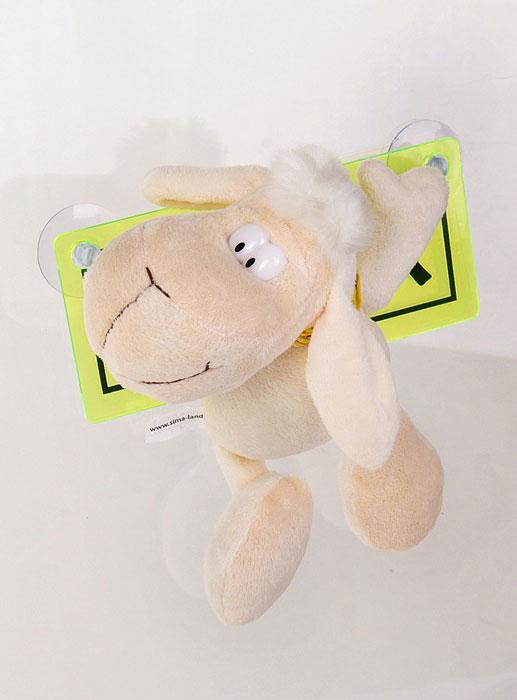 Мягкая игрушка Sima-land Овечка, на присосках, 18 см. 332770514-949Очаровательная мягкая игрушка Sima-land Овечка не оставит вас равнодушным и вызовет улыбку у каждого, кто ее увидит. Игрушка выполнена из искусственного меха и текстиля в виде забавной овечки с ярким платком на шее и табличкой в лапах с надписью Я за рулем и изображением чайника. К табличке прикреплены силиконовые присоски, что позволит расположить игрушку на стекле в автомобиле. Мягкая и приятная на ощупь игрушка станет замечательным подарком, который вызовет массу положительных эмоций.