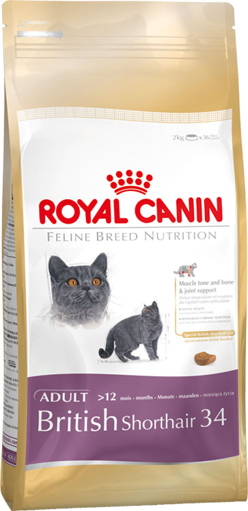 Корм сухой Royal Canin British Shorthair Adult, для британских короткошерстных кошек старше 12 месяцев, 2 кг0120710Сухой корм Royal Canin British Shorthair Adult - полнорационный корм для британских короткошерстных кошек старше 12 месяцев. Британская короткошерстная кошка родом из Великобритании, что явствует из названия породы.Медленное разгрызание и поглощение корма: забота о гигиене ротовой полости. Чтобы кошка по возможности не проглатывала корм, не разгрызая, ей необходимы крокеты особой формы и размера — тогда их поедание будет более физиологичным. Это решает и проблему чистки зубов: таким образом поддерживается гигиена ротовой полости.Поддержание оптимальной формы. Мощные и коренастые, британские короткошерстные кошки испытывают повышенную нагрузку на суставы в сравнении с кошками меньшего веса.Крупное сердце — риск для здоровья. Эта порода имеет предрасположенность к сердечным заболеваниям. Соблюдение диетических рекомендаций — залог здоровья сердца! Мышечный тонус и здоровье суставов.У британской короткошерстной кошки мощное плотное телосложение, вследствие чего повышается нагрузка на суставы. Продукт BRITISH SHORTHAIR помогает поддерживать здоровье костей и суставов, а также оптимальную мышечную массу.Здоровье зубов.Уникальная форма и большие размеры крокет побуждают британских короткошерстных кошек тщательно разгрызать корм, за счет чего поддерживается гигиена ротовой полости. Здоровье сердца.Продукт обогащен таурином и жирными кислотами EPA и DHA.Специально для челюстей британских короткошерстных кошек.AMETHYST 12 — крокета, специально предназначенная для массивных челюстей британских короткошерстных кошек. Форма крокеты позволяет им легче захватывать и тщательно разгрызать корм. Состав: дегидратированное мясо птицы, изолят растительных белков, рис, кукуруза, животные жиры, кукурузная клейковина, растительная клетчатка, гидролизат белков животного происхождения, жом цикория, минеральные вещества, соевое масло, рыбий жир, фруктоолигосахариды, гидролизат д