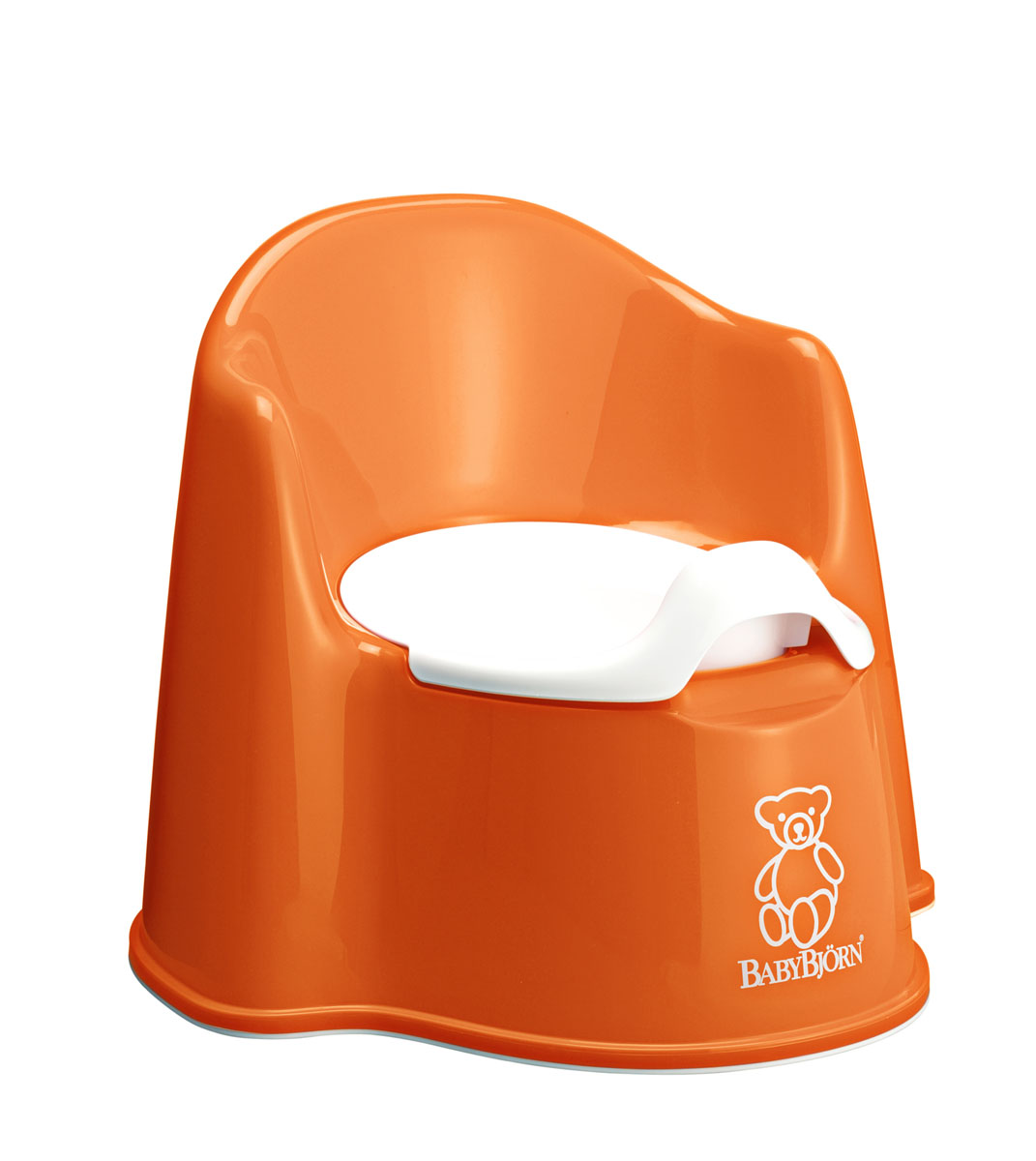 Горшок-кресло  BabyBjorn , цвет: оранжевый, белый -  Горшки и адаптеры для унитаза