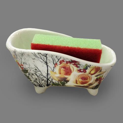 Набор для мытья посуды Besko Роза Антик, 2 предмета. 532-211RSP-202SУважаемые клиенты!Обращаем ваше внимание на цветовой ассортимент товара. Поставка осуществляется в зависимости от прихода товара на склад.